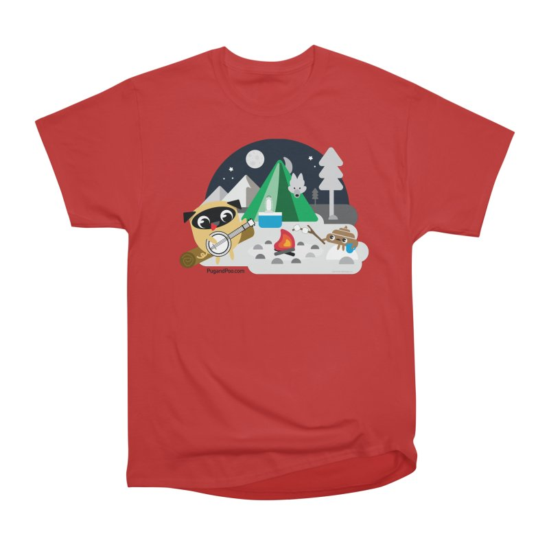 Pug and Poo Campfire Men's Heavyweight T-Shirt by Pug and Poo's Store