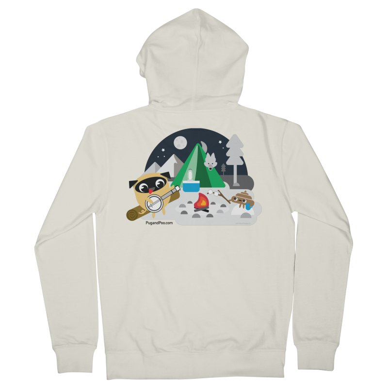 Pug and Poo Campfire Women's French Terry Zip-Up Hoody by Pug and Poo's Store