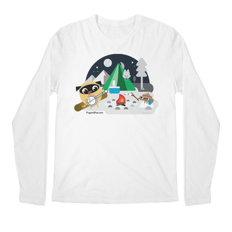Pug and Poo Campfire Men's Regular Longsleeve T-Shirt by Pug and Poo's Store
