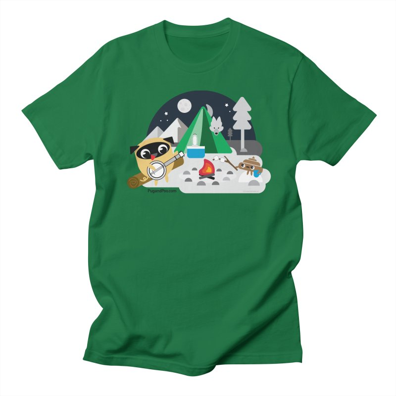 Pug and Poo Campfire Men's T-Shirt by Pug and Poo's Store