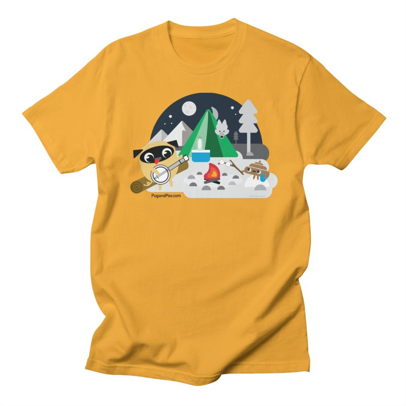 Pug and Poo Campfire Men's Regular T-Shirt by Pug and Poo's Store