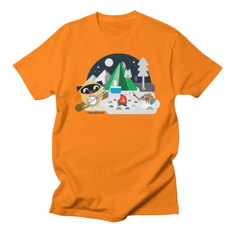 Pug and Poo Campfire Women's Regular Unisex T-Shirt by Pug and Poo's Store