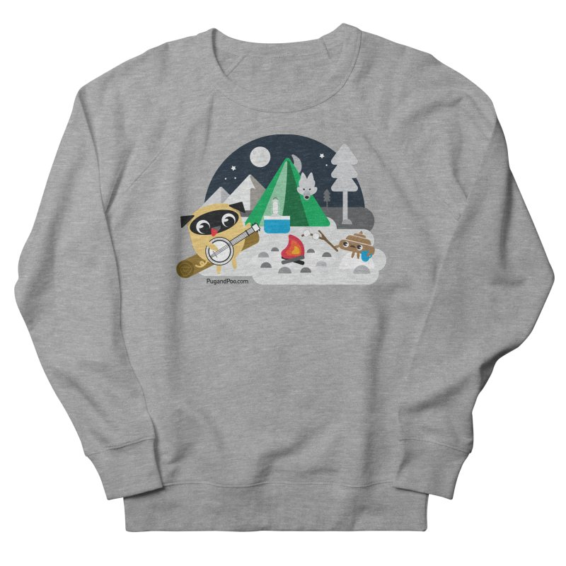 Pug and Poo Campfire Women's French Terry Sweatshirt by Pug and Poo's Store