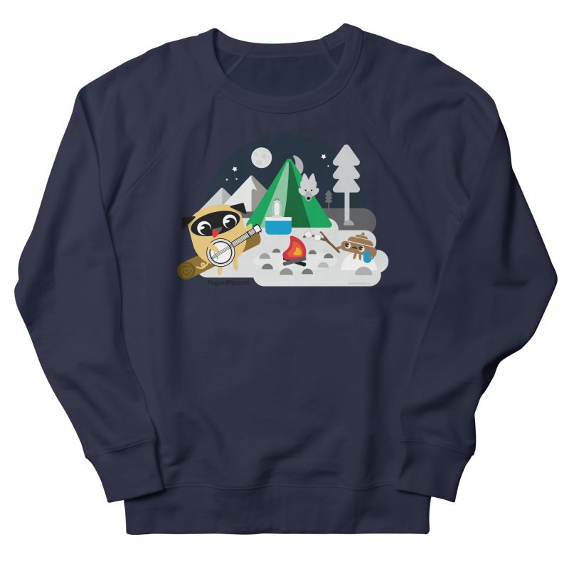 Pug and Poo Campfire Women's Sweatshirt by Pug and Poo's Store
