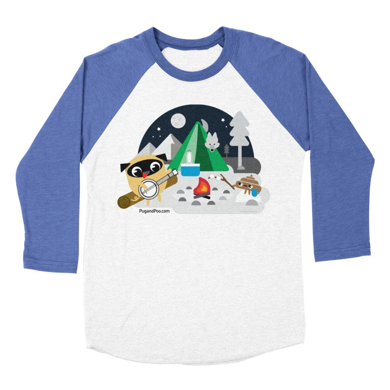 Pug and Poo Campfire Men's Baseball Triblend Longsleeve T-Shirt by Pug and Poo's Store