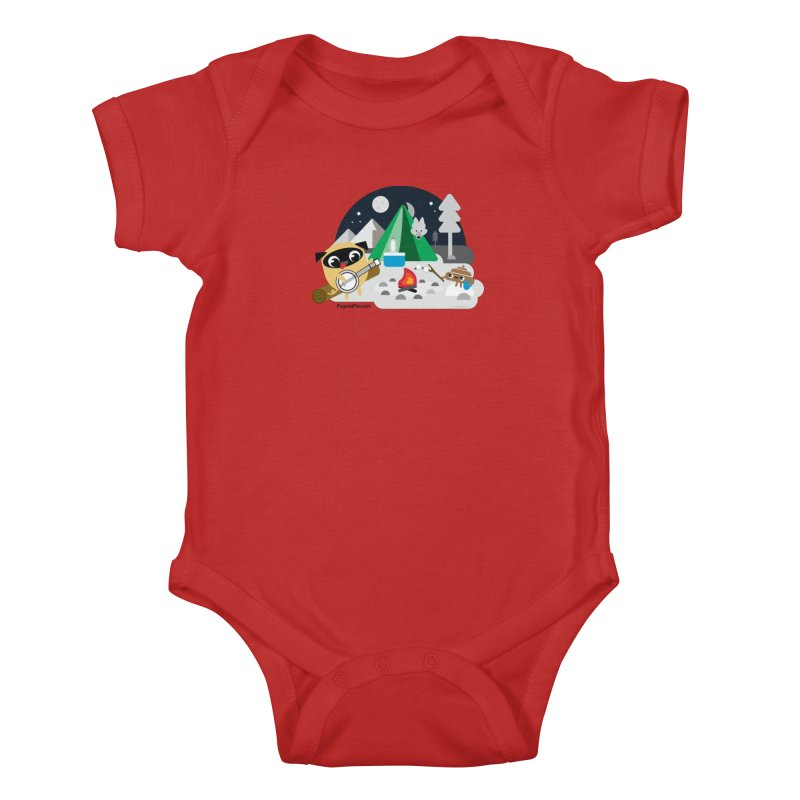 Pug and Poo Campfire Kids Baby Bodysuit by Pug and Poo's Store