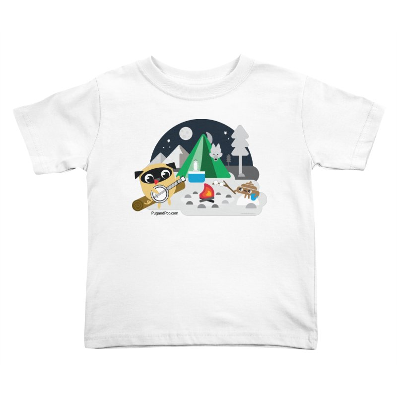 Pug and Poo Campfire Kids Toddler T-Shirt by Pug and Poo's Store