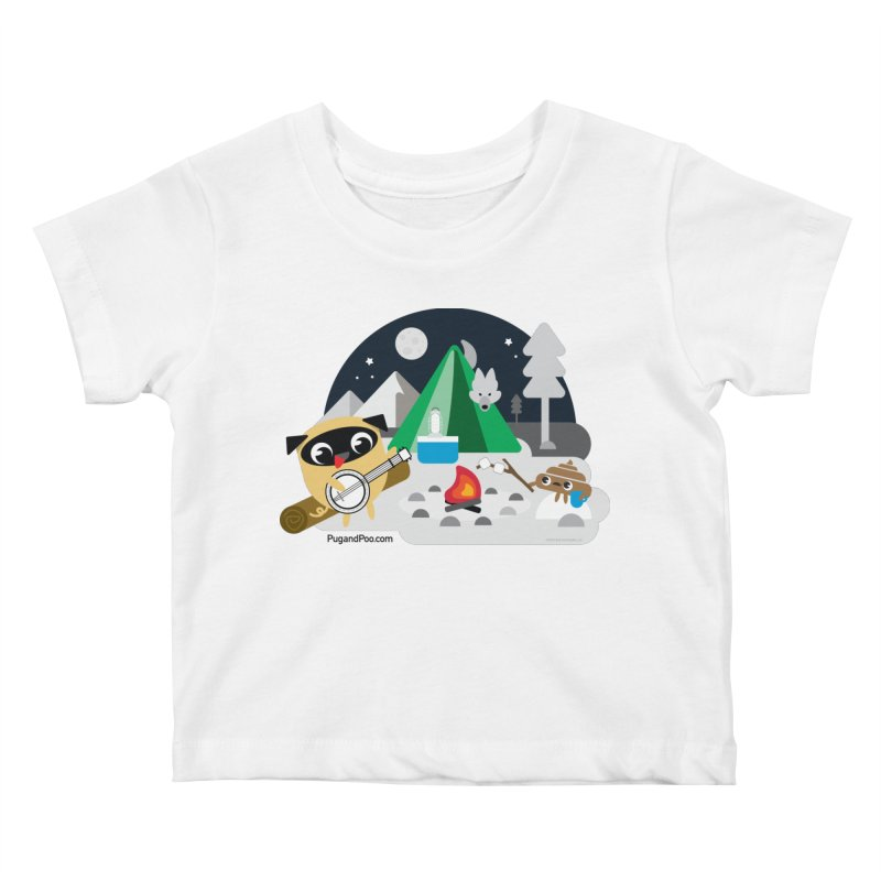 Pug and Poo Campfire Kids Baby T-Shirt by Pug and Poo's Store