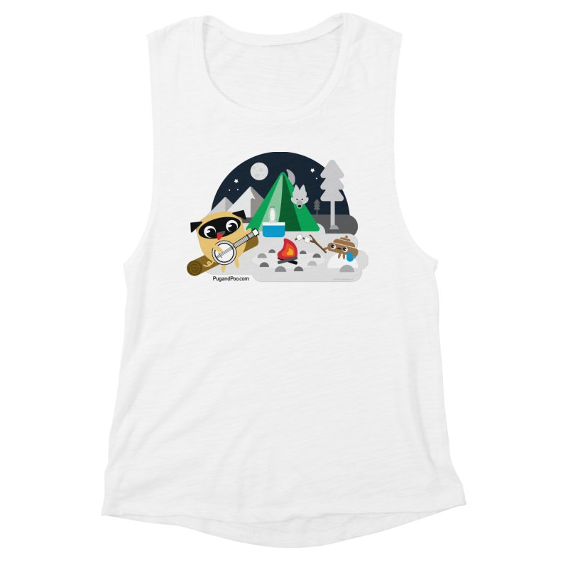 Pug and Poo Campfire Women's Muscle Tank by Pug and Poo's Store