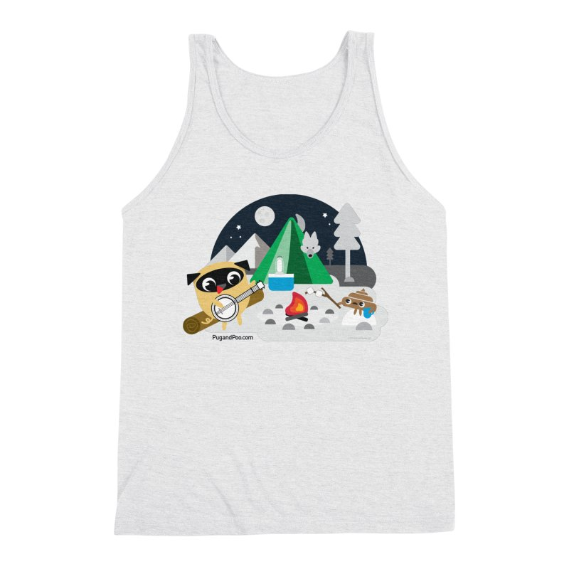 Pug and Poo Campfire Men's Tank by Pug and Poo's Store