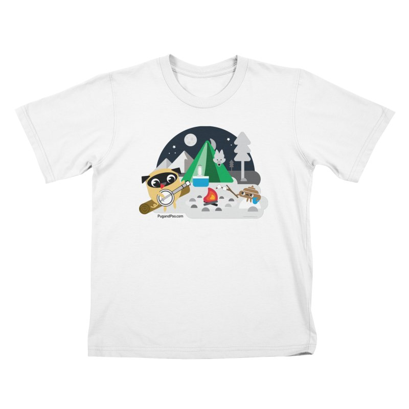 Pug and Poo Campfire Kids T-Shirt by Pug and Poo's Store