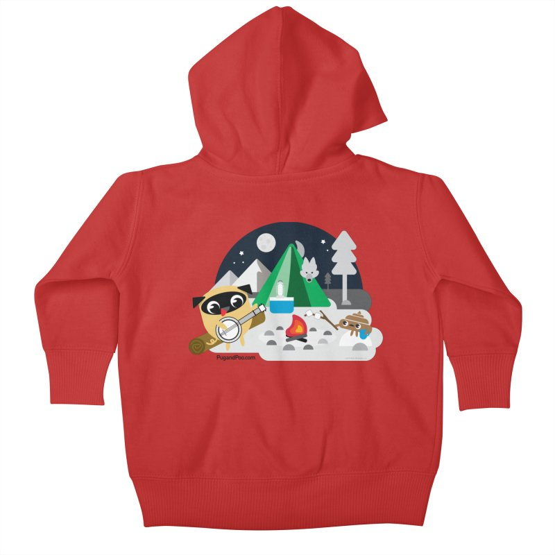 Pug and Poo Campfire Kids Baby Zip-Up Hoody by Pug and Poo's Store
