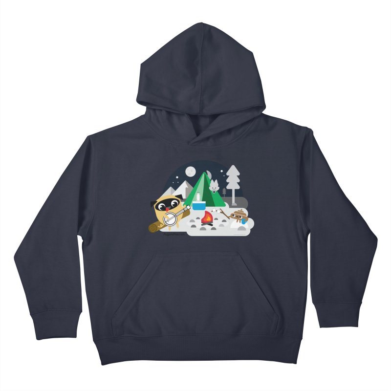 Pug and Poo Campfire Kids Pullover Hoody by Pug and Poo's Store