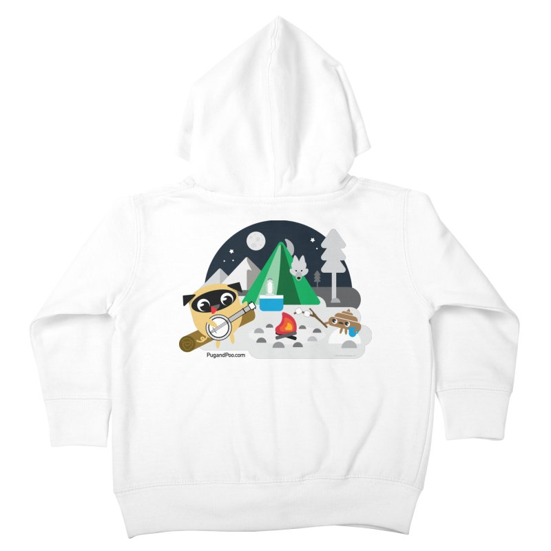 Pug and Poo Campfire Kids Toddler Zip-Up Hoody by Pug and Poo's Store