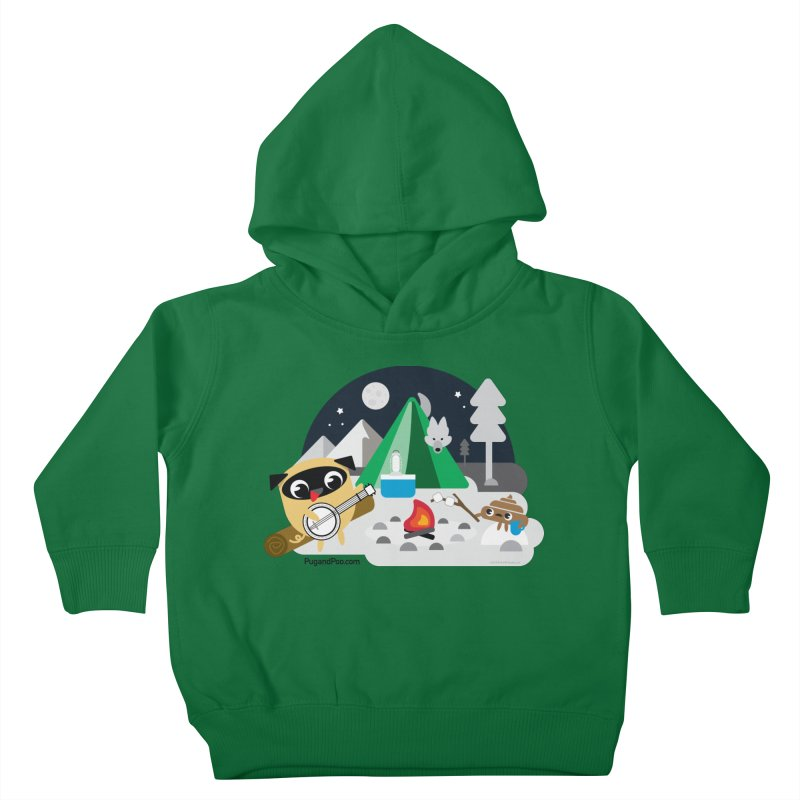 Pug and Poo Campfire Kids Toddler Pullover Hoody by Pug and Poo's Store