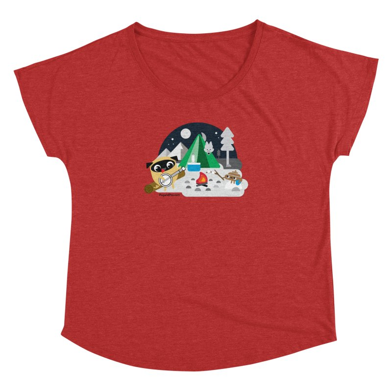 Pug and Poo Campfire Women's Dolman Scoop Neck by Pug and Poo's Store