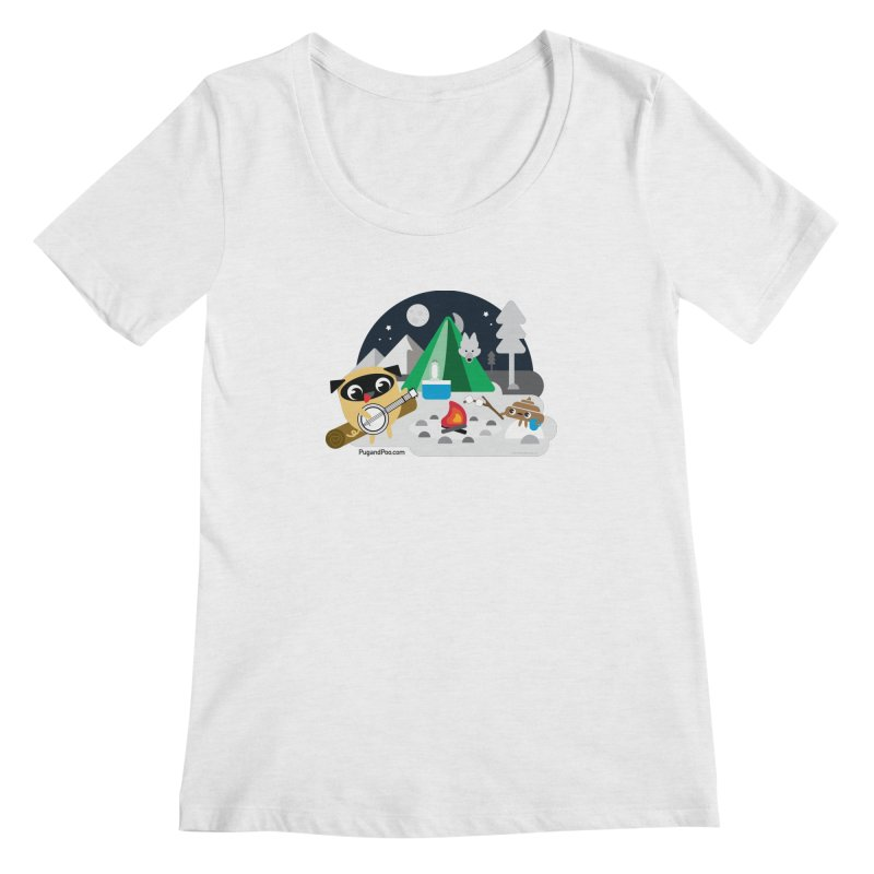Pug and Poo Campfire Women's Scoop Neck by Pug and Poo's Store