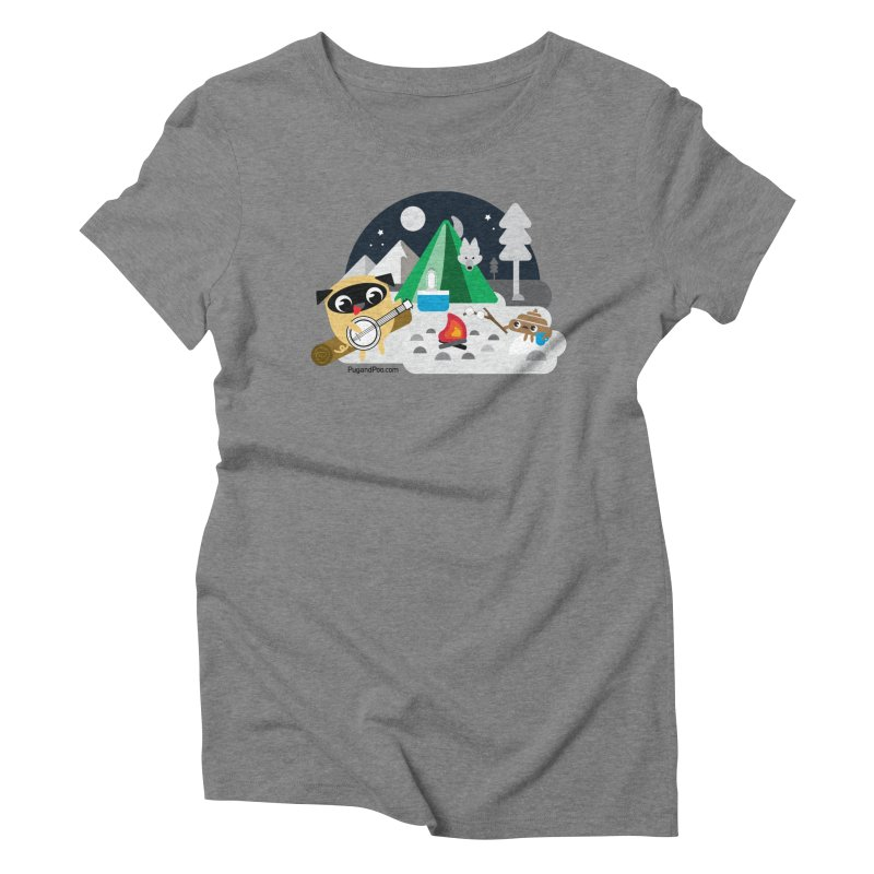 Pug and Poo Campfire Women's Triblend T-Shirt by Pug and Poo's Store
