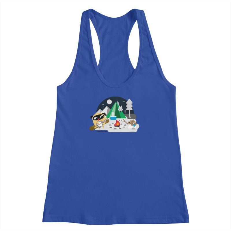 Pug and Poo Campfire Women's Racerback Tank by Pug and Poo's Store