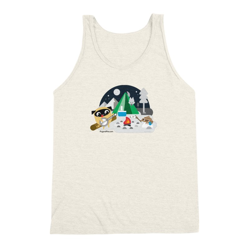 Pug and Poo Campfire Men's Triblend Tank by Pug and Poo's Store
