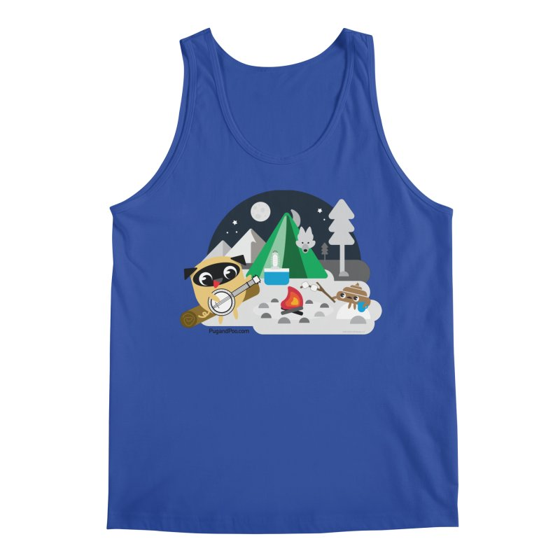 Pug and Poo Campfire Men's Regular Tank by Pug and Poo's Store