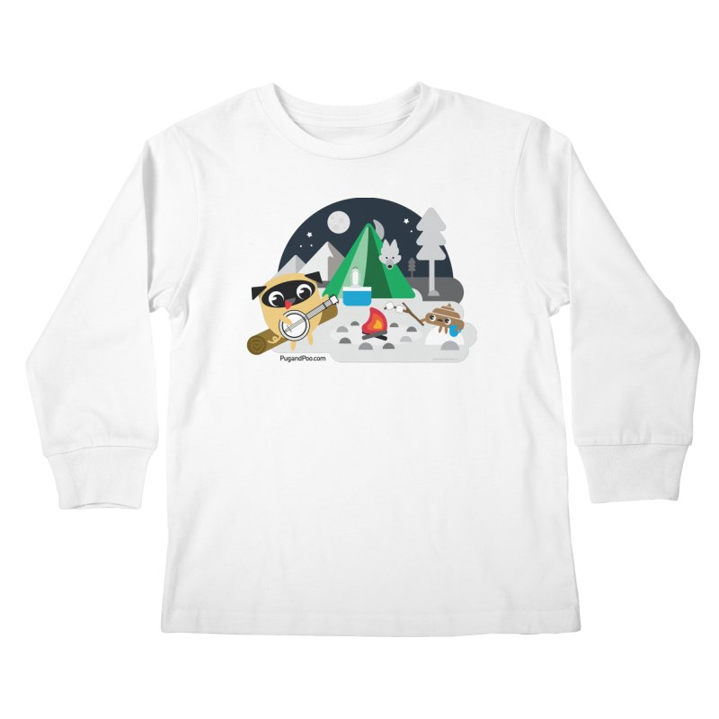 Pug and Poo Campfire Kids Longsleeve T-Shirt by Pug and Poo's Store