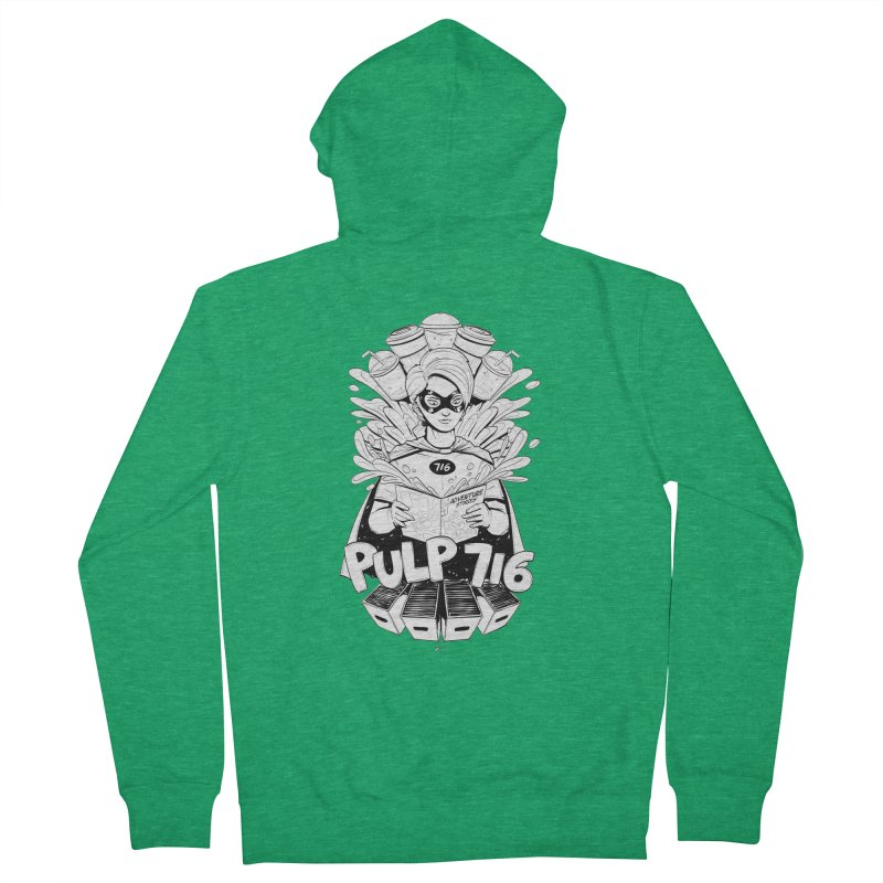 Pulp 716 Bandit Men's Zip-Up Hoody by Pulp 716 Coffee & Comics collection by threadless