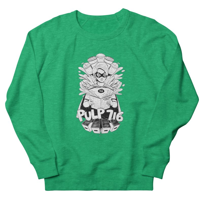 Pulp 716 Bandit Women's Sweatshirt by Pulp 716 Coffee & Comics collection by threadless