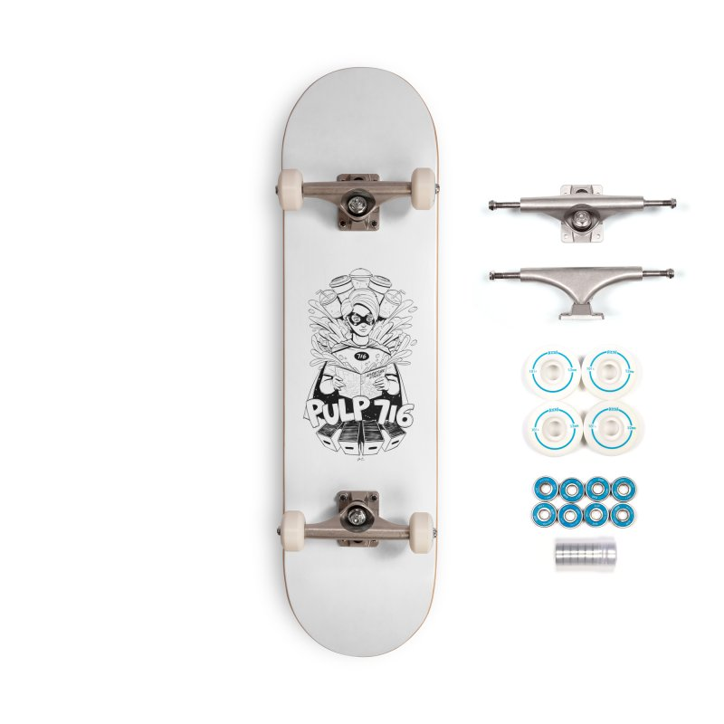 Pulp 716 Bandit Accessories Skateboard by Pulp 716 Coffee & Comics collection by threadless