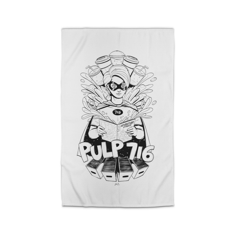 Pulp 716 Bandit Home Rug by Pulp 716 Coffee & Comics collection by threadless