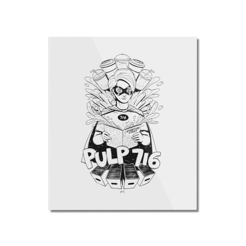 Pulp 716 Bandit Home Mounted Acrylic Print by Pulp 716 Coffee & Comics collection by threadless