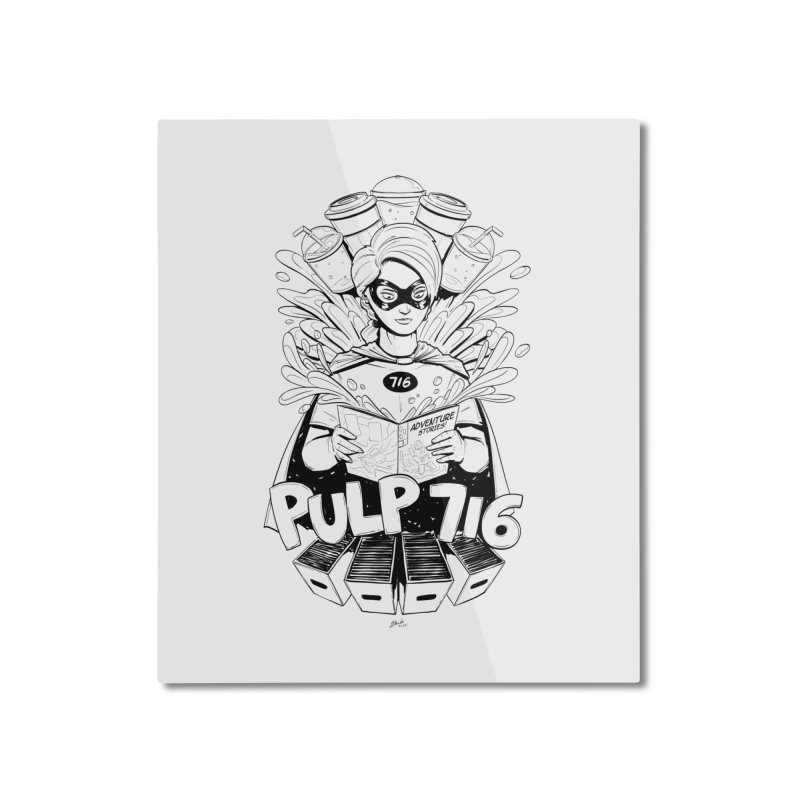 Pulp 716 Bandit Home Mounted Aluminum Print by Pulp 716 Coffee & Comics collection by threadless