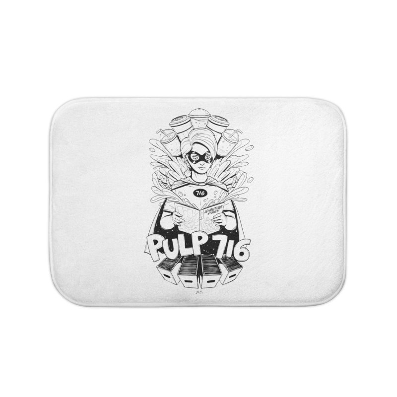 Pulp 716 Bandit Home Bath Mat by Pulp 716 Coffee & Comics collection by threadless