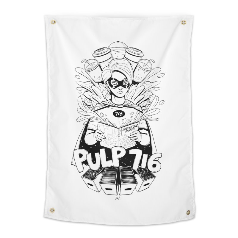 Pulp 716 Bandit Home Tapestry by Pulp 716 Coffee & Comics collection by threadless