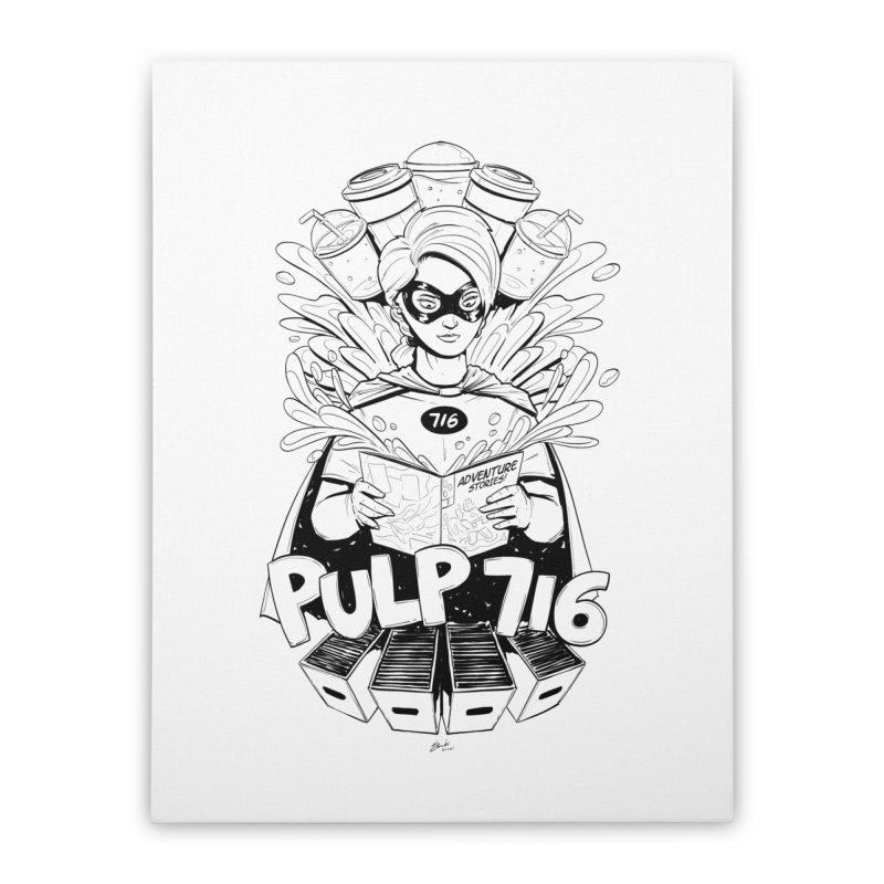 Pulp 716 Bandit Home Stretched Canvas by Pulp 716 Coffee & Comics collection by threadless