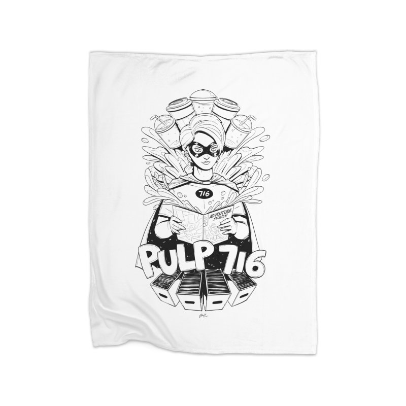 Pulp 716 Bandit Home Blanket by Pulp 716 Coffee & Comics collection by threadless