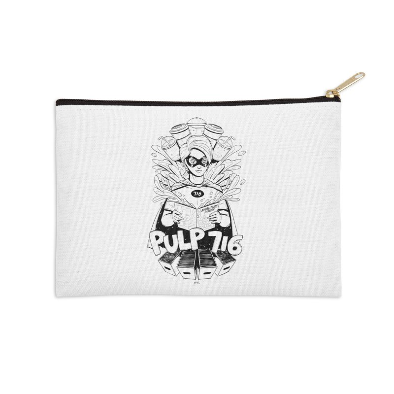 Pulp 716 Bandit Accessories Zip Pouch by Pulp 716 Coffee & Comics collection by threadless