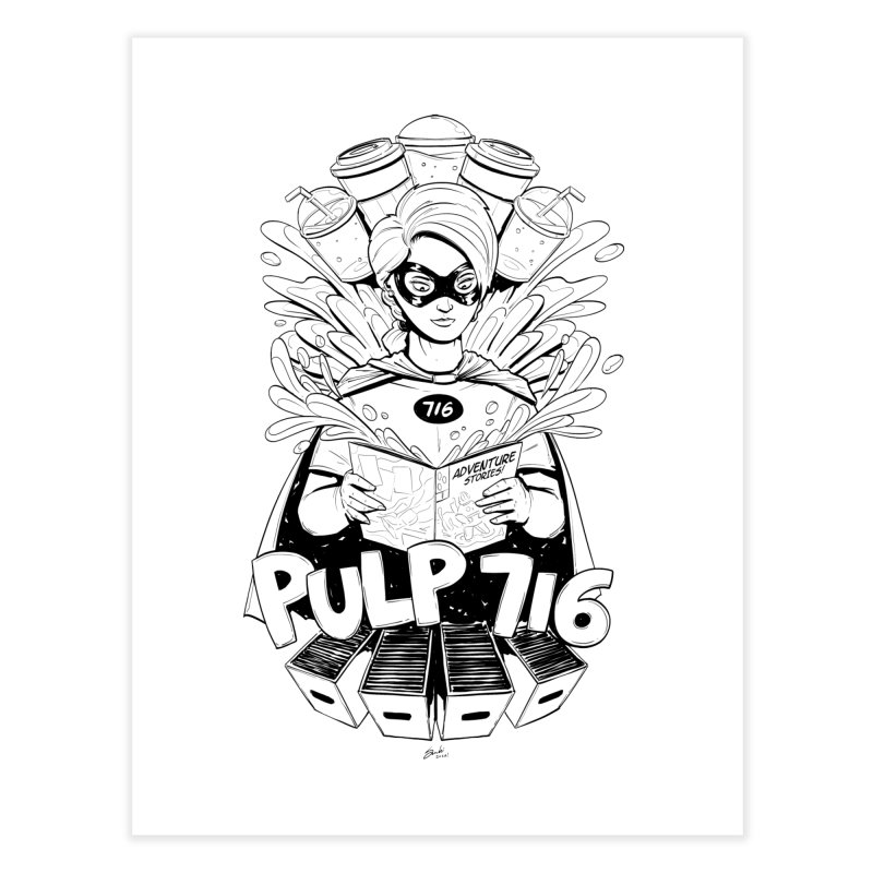 Pulp 716 Bandit Home Fine Art Print by Pulp 716 Coffee & Comics collection by threadless
