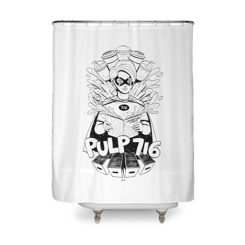 Pulp 716 Bandit Home Shower Curtain by Pulp 716 Coffee & Comics collection by threadless