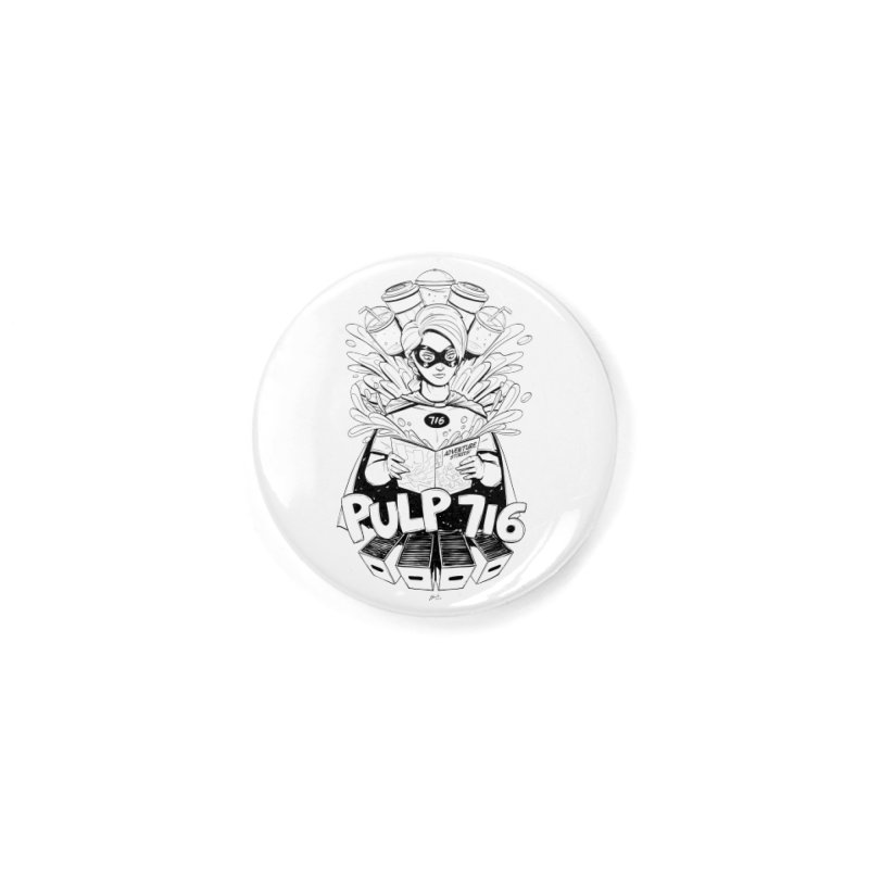 Pulp 716 Bandit Accessories Button by Pulp 716 Coffee & Comics collection by threadless