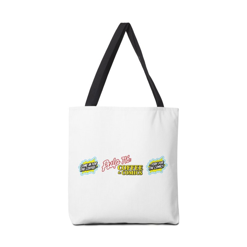 Pulp 716 Retro Diner Logo Accessories Bag by Pulp 716 Coffee & Comics collection by threadless
