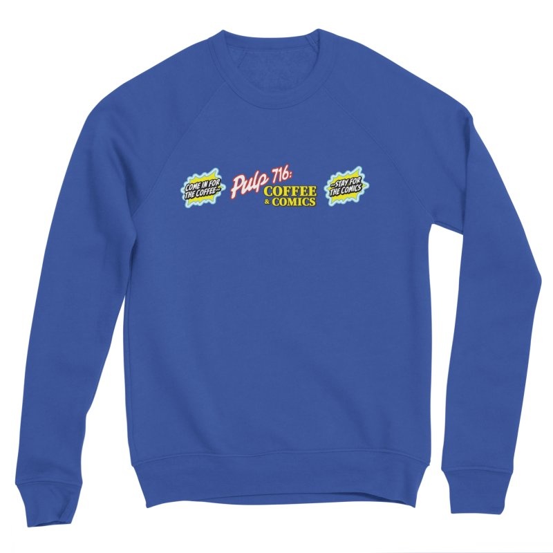 Pulp 716 Retro Diner Logo Men's Sweatshirt by Pulp 716 Coffee & Comics collection by threadless