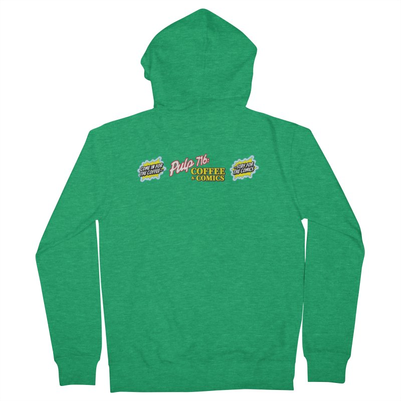 Pulp 716 Retro Diner Logo Women's Zip-Up Hoody by Pulp 716 Coffee & Comics collection by threadless