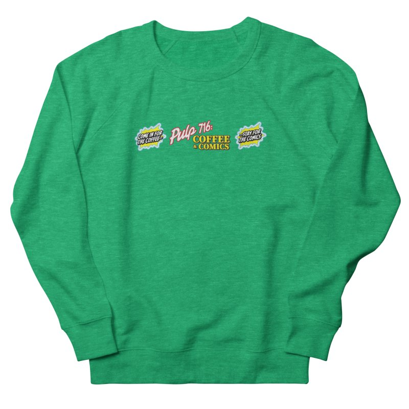 Pulp 716 Retro Diner Logo Women's Sweatshirt by Pulp 716 Coffee & Comics collection by threadless