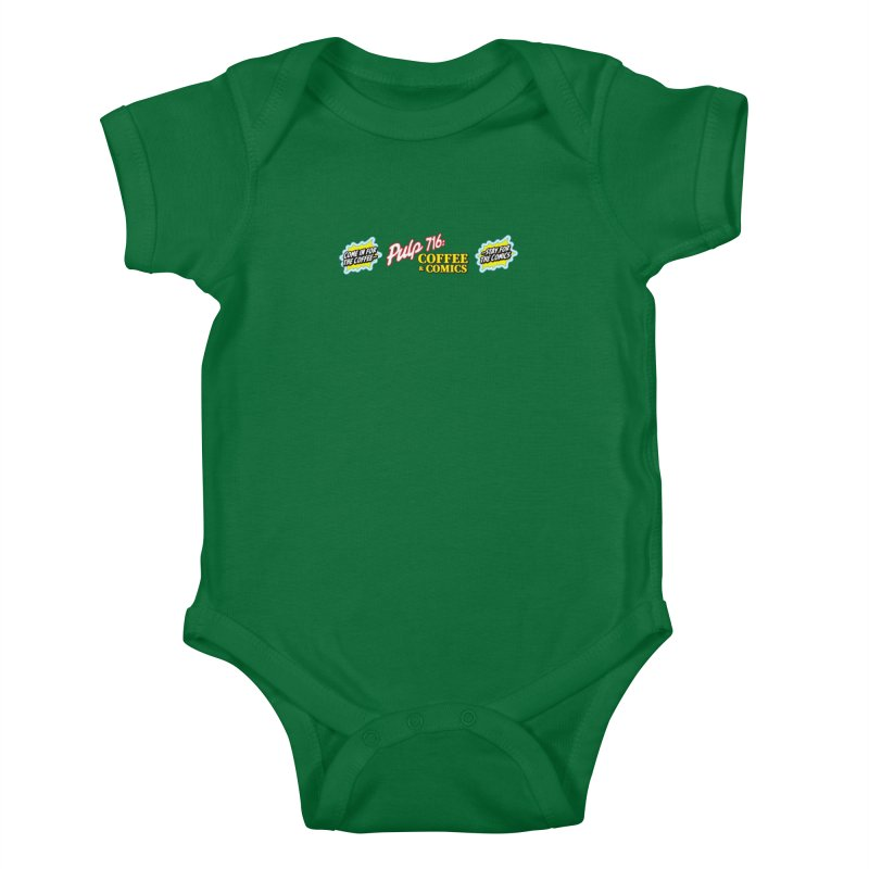 Pulp 716 Retro Diner Logo Kids Baby Bodysuit by Pulp 716 Coffee & Comics collection by threadless