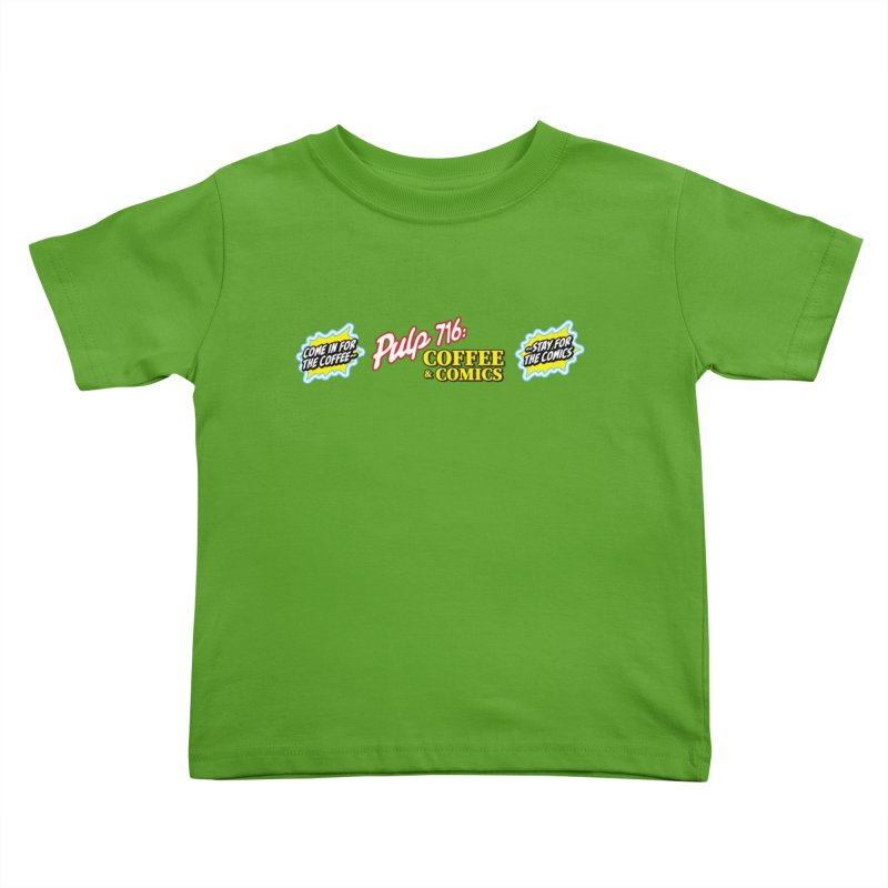 Pulp 716 Retro Diner Logo Kids Toddler T-Shirt by Pulp 716 Coffee & Comics collection by threadless