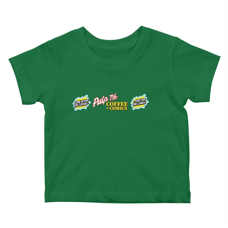 Pulp 716 Retro Diner Logo Kids Baby T-Shirt by Pulp 716 Coffee & Comics collection by threadless