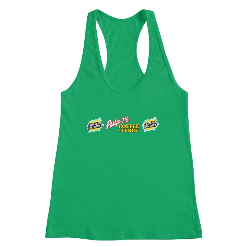 Pulp 716 Retro Diner Logo Women's Tank by Pulp 716 Coffee & Comics collection by threadless