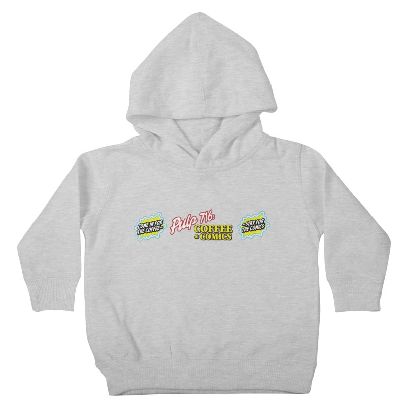 Pulp 716 Retro Diner Logo Kids Toddler Pullover Hoody by Pulp 716 Coffee & Comics collection by threadless
