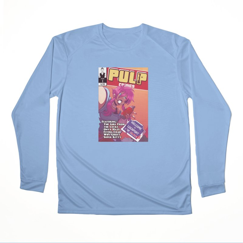 Pulp 716: The Girl From the Locks Women's Longsleeve T-Shirt by Pulp 716 Coffee & Comics collection by threadless
